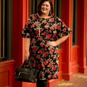 Catherines A-Line Rose Foil Midi Dress